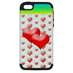 Hearts 2 Apple Iphone 5 Hardshell Case (pc+silicone) by Contest1630871