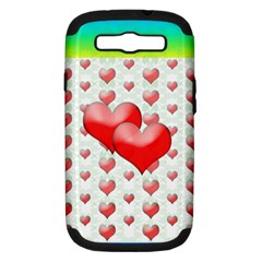 Hearts 2 Samsung Galaxy S Iii Hardshell Case (pc+silicone) by Contest1630871