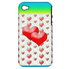 Hearts 2 Apple Iphone 4/4s Hardshell Case (pc+silicone) by Contest1630871