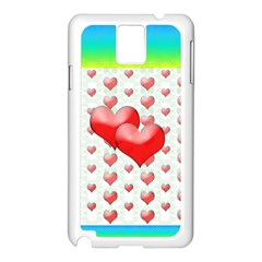 Hearts 2 Samsung Galaxy Note 3 N9005 Case (white) by Contest1630871