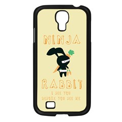 Ninja Bunny Samsung Galaxy S4 I9500/ I9505 Case (black) by TheTalkingDead