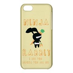 Ninja Bunny Apple Iphone 5c Hardshell Case