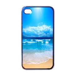 Look At Your Phone And Relax Apple Iphone 4 Case (black) by TheTalkingDead