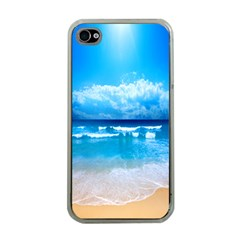 Look At Your Phone And Relax Apple Iphone 4 Case (clear) by TheTalkingDead