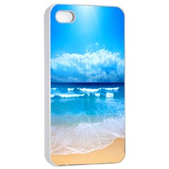 Look At Your Phone And Relax Apple Iphone 4/4s Seamless Case (white) by TheTalkingDead