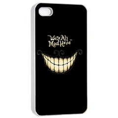 We Are All Mad Here Apple Iphone 4/4s Seamless Case (white) by TheTalkingDead