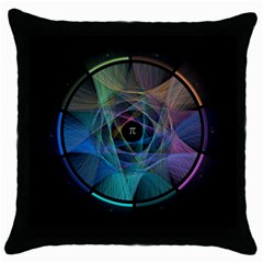 Pi Visualized Black Throw Pillow Case