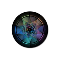 Pi Visualized Magnet 3  (round) by mousepads123