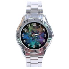 Pi Visualized Stainless Steel Watch by mousepads123