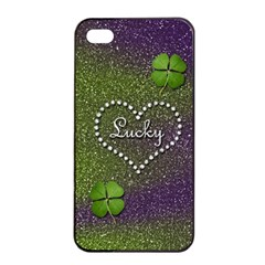 Lucky Girl Apple Iphone 4/4s Seamless Case (black) by Contest1673627
