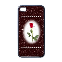 Pretty As A Rose Apple Iphone 4 Case (black)