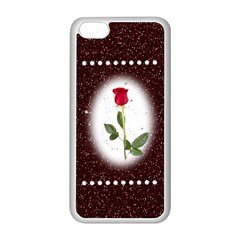 Pretty As A Rose Apple Iphone 5c Seamless Case (white)