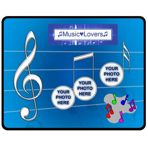 Music Medium Music Blanket By Joy Johns   Fleece Blanket (medium)   Y5xmjo5qvrb0   Www Artscow Com 60 x50 Blanket Front