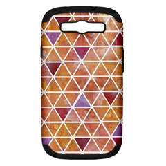 Geometrics Samsung Galaxy S Iii Hardshell Case (pc+silicone) by Contest1888309