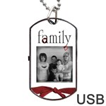 Family 2side USB - Dog Tag USB Flash (Two Sides)