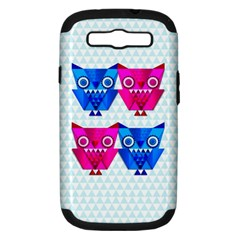 OWLigami Samsung Galaxy S III Hardshell Case (PC+Silicone) by doodlelabel