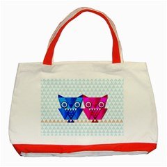 Owligami Classic Tote Bag (red) by doodlelabel