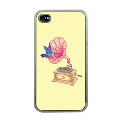 Bird Love Music Apple Iphone 4 Case (clear) by Contest1736674