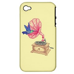 Bird Love Music Apple Iphone 4/4s Hardshell Case (pc+silicone) by Contest1736674