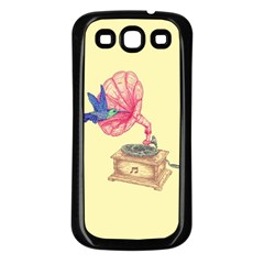 Bird Love Music Samsung Galaxy S3 Back Case (black) by Contest1736674