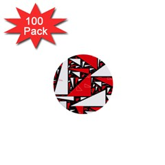 Titillating Triangles 1  Mini Button (100 Pack) by StuffOrSomething