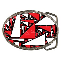 Titillating Triangles Belt Buckle (oval)