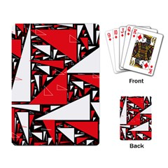 Titillating Triangles Playing Cards Single Design