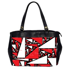 Titillating Triangles Oversize Office Handbag (two Sides) by StuffOrSomething