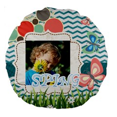 Kids By Jacob   Large 18  Premium Round Cushion    Wuzbdtgyvjgl   Www Artscow Com Back