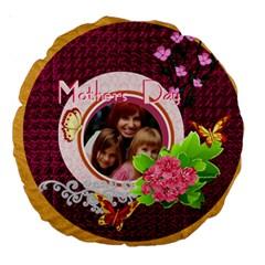 Mothers Day By Jacob   Large 18  Premium Round Cushion    Cd0og5kf7ki2   Www Artscow Com Back