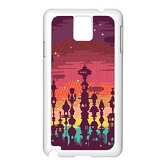 Meet me after sunset Samsung Galaxy Note 3 N9005 Case (White) by Contest1888822