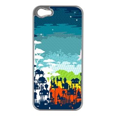 Rainforest City Apple iPhone 5 Case (Silver) by Contest1888822