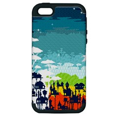 Rainforest City Apple Iphone 5 Hardshell Case (pc+silicone) by Contest1888822