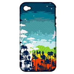 Rainforest City Apple Iphone 4/4s Hardshell Case (pc+silicone) by Contest1888822