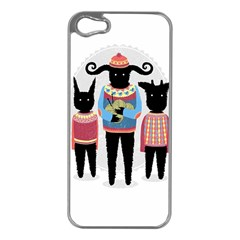 Nightmare Knitting Party Apple Iphone 5 Case (silver) by Contest1888822