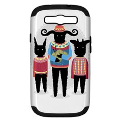 Nightmare Knitting Party Samsung Galaxy S Iii Hardshell Case (pc+silicone) by Contest1888822