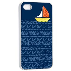 Sail The Seven Seas Apple Iphone 4/4s Seamless Case (white) by Contest1888822