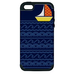 Sail The Seven Seas Apple Iphone 5 Hardshell Case (pc+silicone)