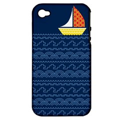 Sail The Seven Seas Apple Iphone 4/4s Hardshell Case (pc+silicone) by Contest1888822