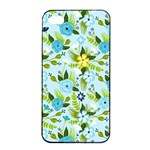 Flower Bucket Apple iPhone 4/4s Seamless Case (Black) Front