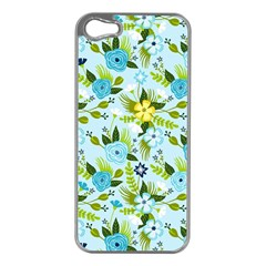 Flower Bucket Apple Iphone 5 Case (silver) by Contest1888822