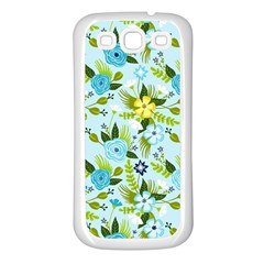 Flower Bucket Samsung Galaxy S3 Back Case (white)