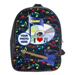 Music large bookbag - School Bag (Large)