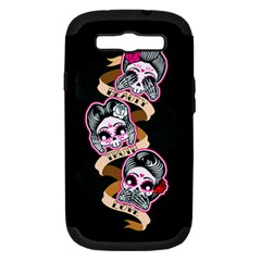 Skull Beauties Samsung Galaxy S Iii Hardshell Case (pc+silicone) by TheTalkingDead