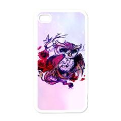 Spring Owl Apple Iphone 4 Case (white)