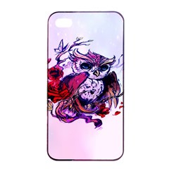 Spring Owl Apple Iphone 4/4s Seamless Case (black) by TheTalkingDead