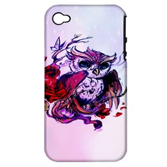 Spring Owl Apple Iphone 4/4s Hardshell Case (pc+silicone) by TheTalkingDead