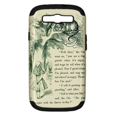 Alice In Bookland Samsung Galaxy S Iii Hardshell Case (pc+silicone) by TheTalkingDead