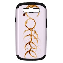 Coffee Stains Samsung Galaxy S Iii Hardshell Case (pc+silicone) by TheTalkingDead