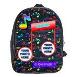 Music large bookbag #2 - School Bag (Large)